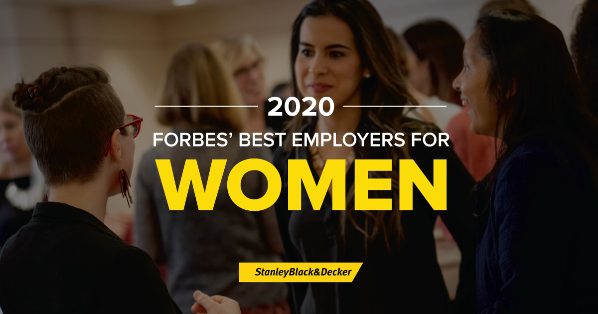 Stanley Black & Decker Named To Forbes Best Employers For Women 2020