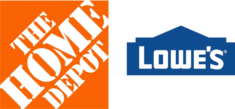 Sales and Marketing Development Program - Lowes and Home Depot Logos