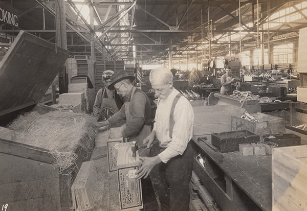 Factory workers in Towson, Maryland