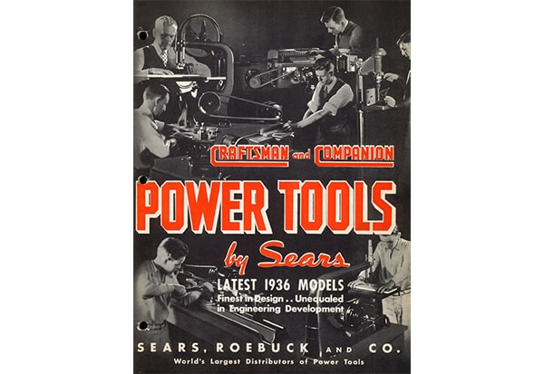 A 1936 Sears tool catalog featuring Craftsman products