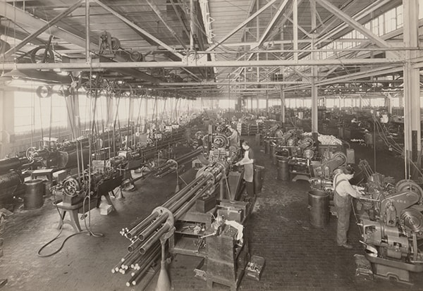 Black & Decker's custom machine shop in the early 20th century