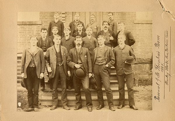 A group of Stanley Works employees, 1885.