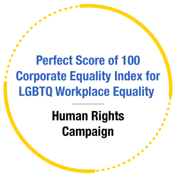 Recognition - Perfect Score of 100 Corporate Equality Index for LGBTQ Workplace Equality