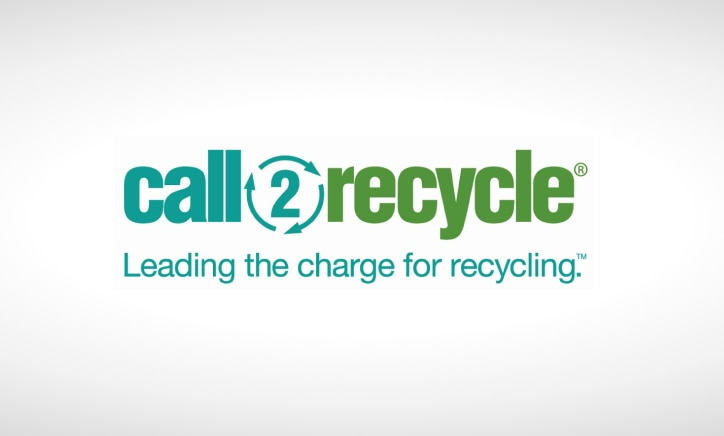 call 2 recycle logo